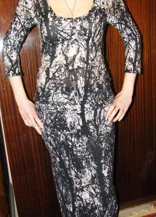 Очень красивое длинное платье для стройной и высокой, смелой девушки s-m