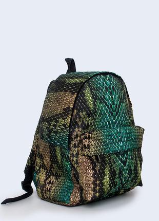 Рюкзак с крутым принтом змеи