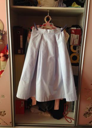 Небесно-голубая юбка миди zara