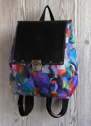 Небольшой разноцветный рюкзак