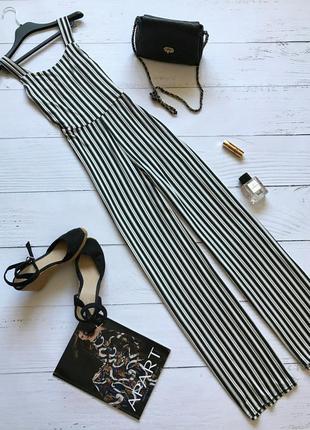 Актуальный полосатый комбинезон-брюки selects