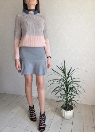 Невероятная новая юбка с баской внизу на резинке