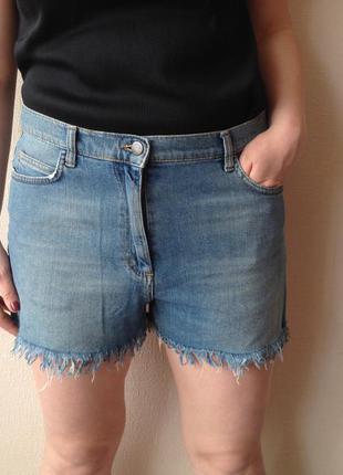Шорты летние h&m светлые шорты размер л летняя одежда короткие шорты джинсовые