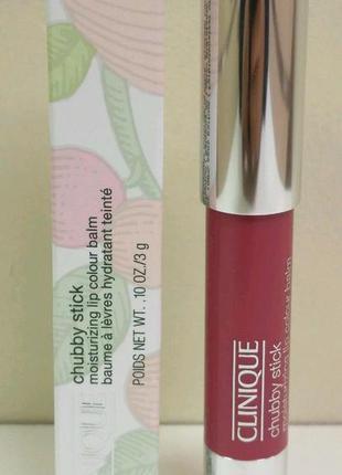 Clinique увлажняющий бальзам для губ chubby stick moisturizing lip colour balm