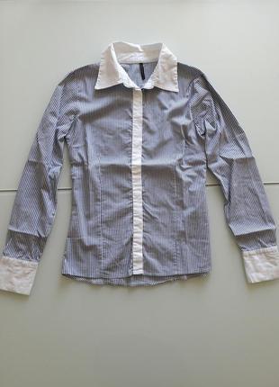 Рубашка naf naf италия мегамодная полоска новая коллекция распродажа!