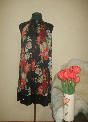 Очень красивое платье zara 100% шелк