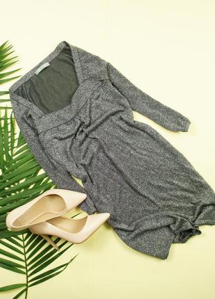 M&s серебряное мерцающее платье прямого кроя!