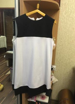 Крутое черно-белое платье oodji
