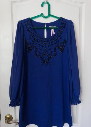 Шикарная блуза / туника с бусинами