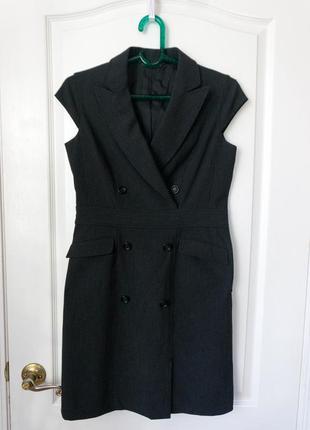 Платье в строгом стиле или удлиненная жилетка