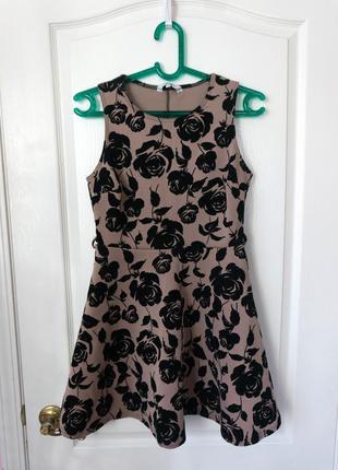 Шикарное коктейльное платье #принтрозы