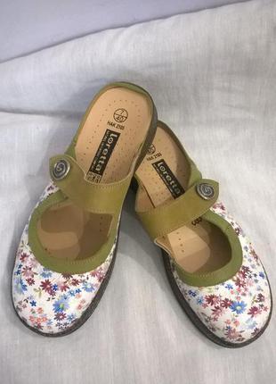 Кожаные сабо,туфли.  loretta.