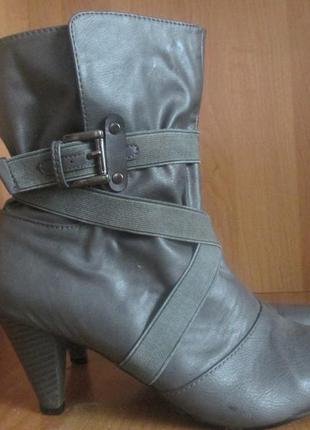 Демисезонні шкіряні черевики напівчобітки