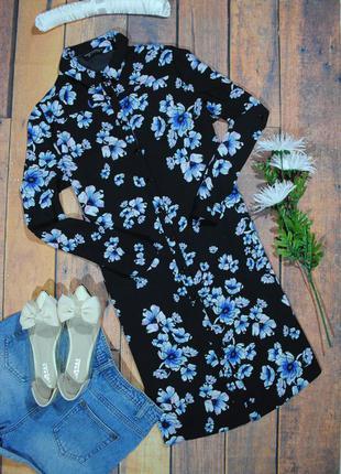 Цветочное платье-рубашка dorothy perkins размер uk12 (m/l)