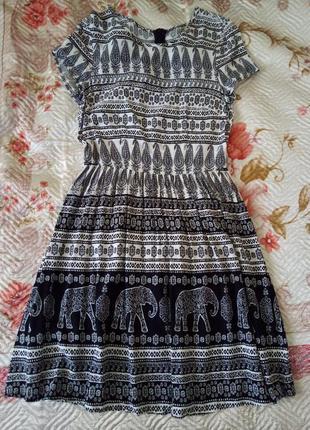 Черно-белое платье oodji размер xs