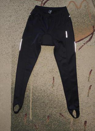 Фирменные вело штаны с памперсом karrimor p.m/l