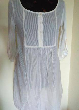 Красивейшее белое тонкое платье-туника