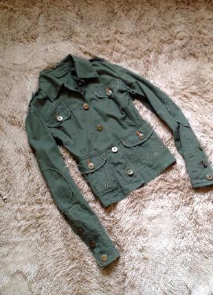 Летняя легкая куртка пиджак хаки dorothy perkins