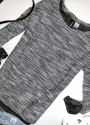 Стильная меланжевая кофта, блестящая, пуловер, кофточка весенняя