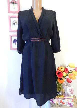 Супер платье с шалевым воротником в рубашечном стиле черного цвета размер s
