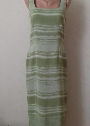 Длинное вискозное платье с принтом