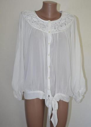 Блузка бохо кружево