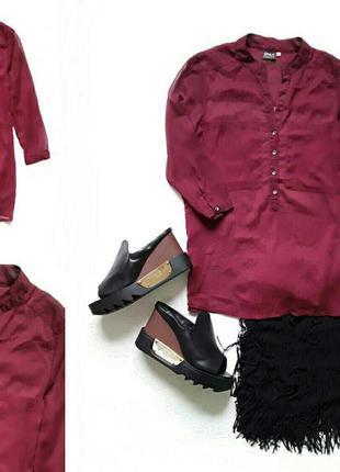 Стильная блузочка цвета марсала от only.