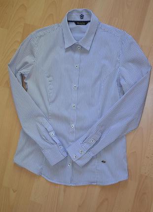 Приталенная рубашка в полоску massimo dutti