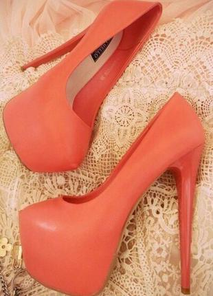 Коралл туфли/туфли женские/туфли высокий каблук/туфли платформа/средний каблук/танкетка