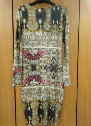 Нарядное трикотажное платье размер 12-14