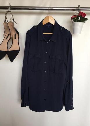 Стильная рубашка блузка с длинным рукавом