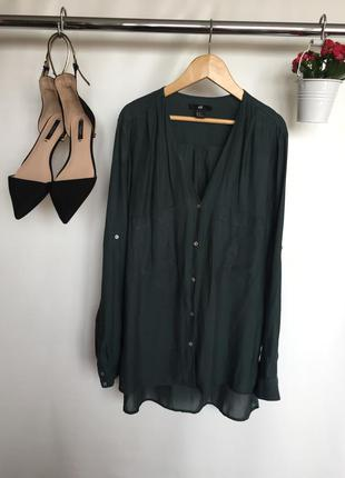Трендовая рубашка блузка с длинным рукавом