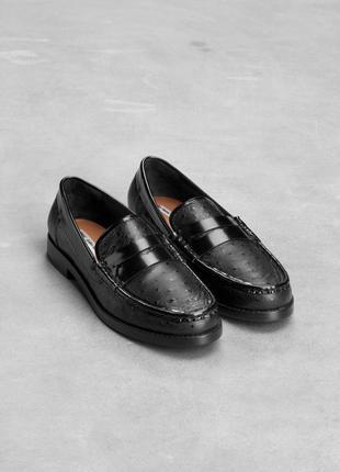 Туфли лоферы от other stories натуральная кожа