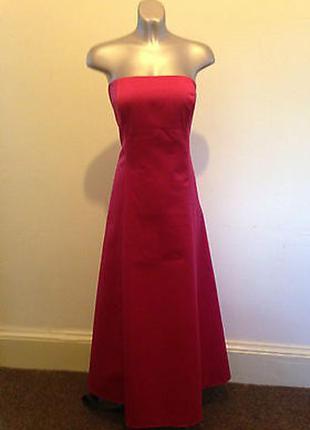 Красное длинное вечернее  платье 48 размер на выпускной debenhams