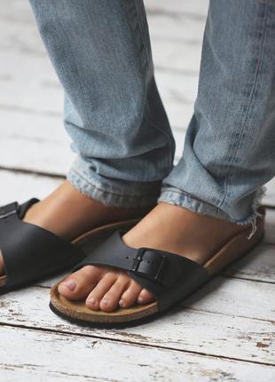 Классические черные босоножки сандалии birkestock