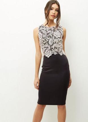 Шикарное миди платье с кружевом
