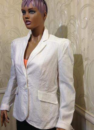 Пиджак 100% лен, etam, размер 40/l