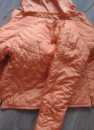 Куртка деми двухсторонняя оранжево - чёрная marani m