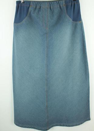 Джинсовая юбка для беременных mothercare