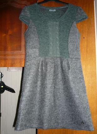 Теплое платье из мохера