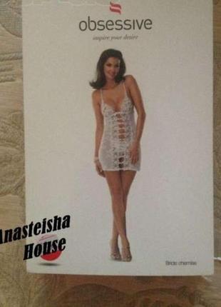 Комплект obsessive bride chemise