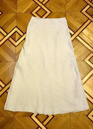 Льяная юбка-макси на подкладке
