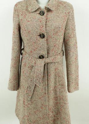 Классическое полушерстяное пальто из ткани букле atmosphere