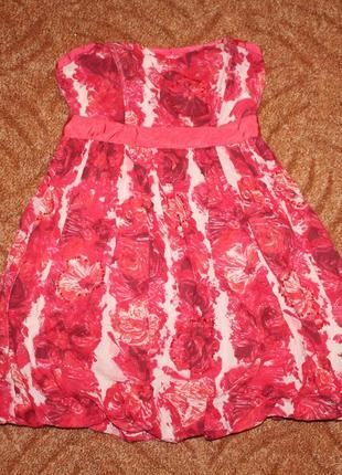 Коралловое коктейльное платье