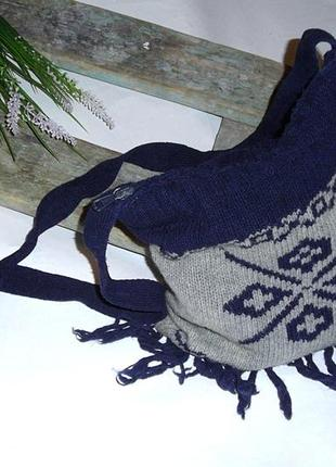 Вязаная новогодняя зимняя сумочка onyx