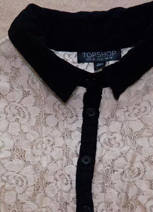 Кружевная блуза topshop