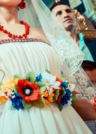 Женский украинское свадебное платье