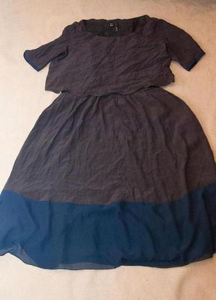 Обалденное двухслойное платье-миди от mango
