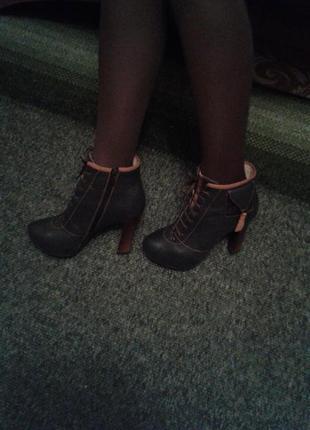 Кожаные ботинки демисезон olli