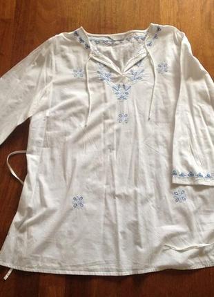 Красивая блуза для беременных mothercare с вышитым орнаментом